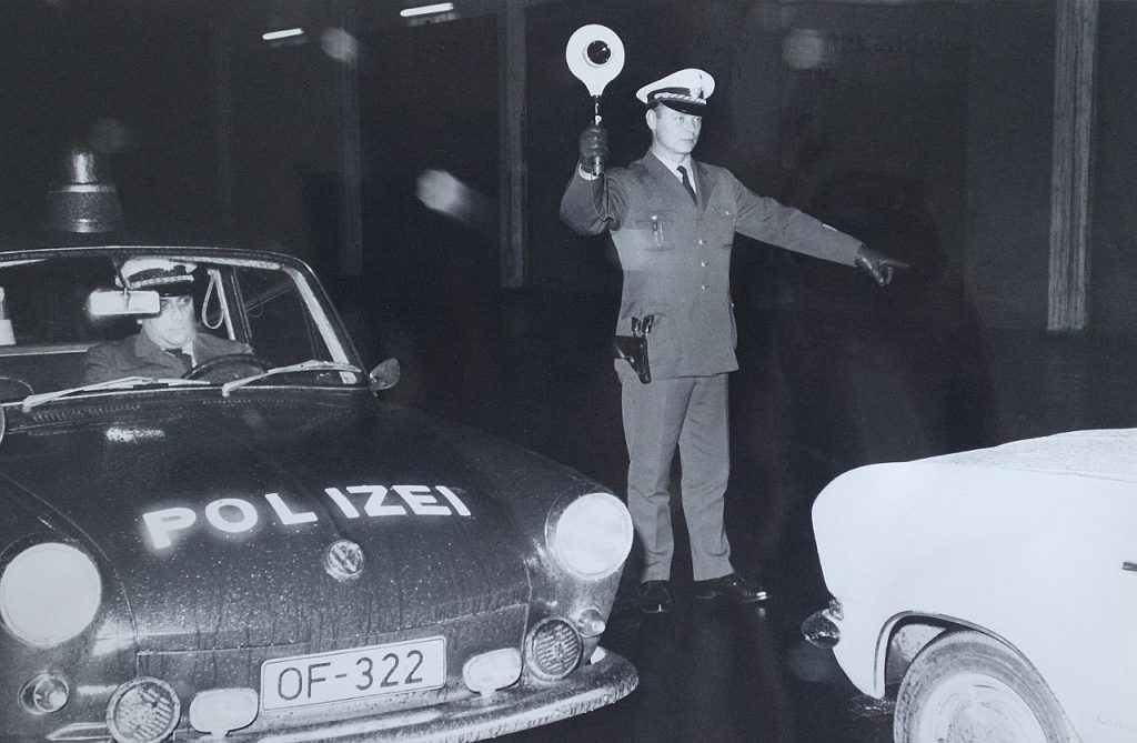 Polizeikontrolle 1969 in Offenbach
